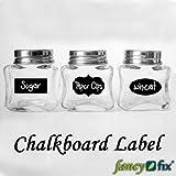 Cute Chalkboard Sticker Labels Vinyl Kitchen Pantry Organizing Home Sticker 3 Design 36 Decals 1 Free Chalk