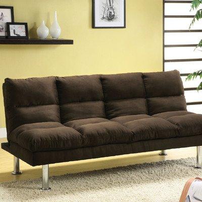 Saratoga Sleeper Sofa Color: Brown front-997270