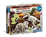 Clementoni 69408.2 - Galileo - Ausgrabungsset T-Rex und Triceratops fluoreszierend, Experimentierkaesten von Clementoni