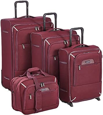Travelite CrossLITE 2.0 Luggage Set 4 Pieces 3 Wheelie Suitcases + Flight Bag from Travelite
