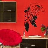 Indian Eagle - Vinyl Wall Decal / Bird Wall Sticker / Bird Wall Transfer Art Bi2