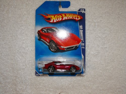 Hot Wheels 2009-148 '69 (1969) Corvette ZL-1 Dream Garage Red 1:64 Scale - 1