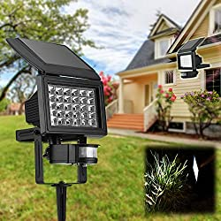 LussoLiv Solar Power Superbright 30 LED Body Induction Light Garden Wall-mounted Spotlight