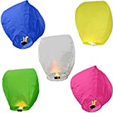 Multicolor Paper Sky Lantern Pack Of 5