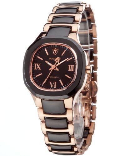 Detomaso LUCIA Rosegold DT3013-C Ladies DT3013-C - Reloj analógico de cuarzo para mujer, correa de cerámica multicolor