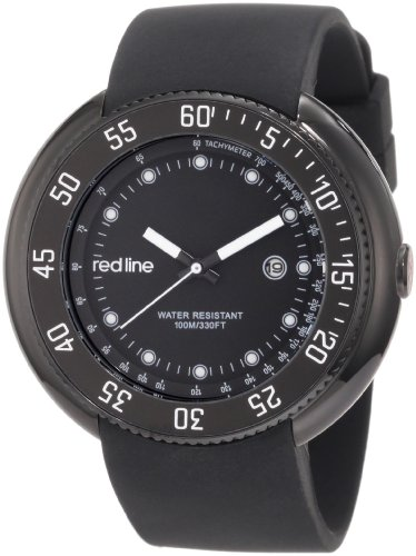 Red Line Driver 50039-BB-01 50 Stainless Steel Case Black Band Mineral Men's Quartz Watch