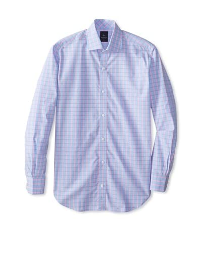 TailorByrd Men's Bolo Long Sleeve Checked Classic Sportshirt