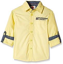 UFO Boys' Shirt (AW16-WF-BKT-523_Yellow_8 - 9 years)