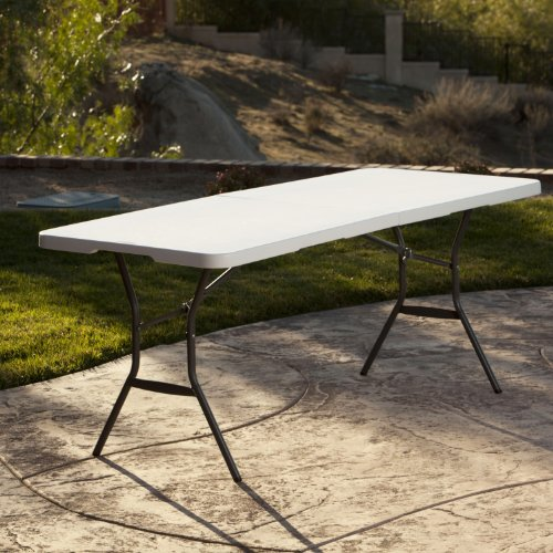 Lifetime 25011 Fold In Half Commercial Table 6 Feet