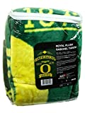 NCAA Officially Licensed Oregon Ducks Royal Plush Raschel Fleece Throw Blanket