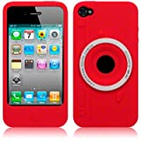 iPhone 4 / iPhone 4G Camera Style Silicone Skin Case / Cover / Shell - Redby TERRAPIN