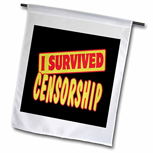 Dooni Designs Survive Sayings - I Survived Censorship Survial Pride And Humor Design - 18 x 27 inch Garden Flag (fl_117822_2)