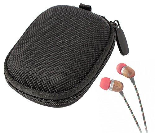 Duragadget Hard Eva Protective Storage Case / Bag For Headphones & Earphones In Black For House Of Marley Smile Jamaica (Em-Je000-Cu, Em-Je000-Fi, Em-Je000-Li, Em-Je000-Ra) And House Of Marley People Get Ready (Em-Je010-Ra, Em-Je013-Rt, Em-Je010-Ro, Em-Je