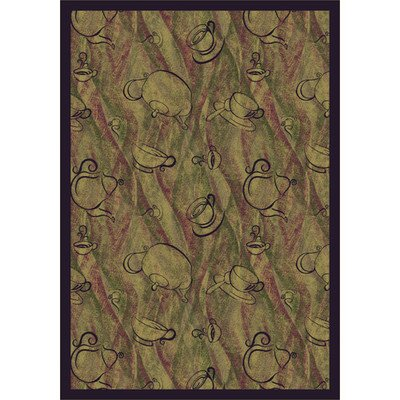 Joy Carpets Kaleidoscope Fresh Brew Whimsical Area Rugs, 64-Inch by 92-Inch by 0.36-Inch, Hazelnut