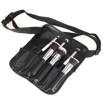 Anself 24 Poches PVC Pochette de Pinceaux Maquillage Cosmétique Professionnelle Tablier Sac à Ceinture pour Artiste
