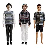 3 Set Ken Fashion Clothes - Handmade Summer Casual Clothes Set For Barbie Boyfriend Ken Dolls