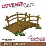 Tectake Pont de jardin pont d'étang Passerelle en bois env. 140cm de