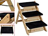 TMS® Pet Folding 2-in-1 Stairs Ramp Non Slip Sturdy Wooden Step Dog Cat Animal Ladder