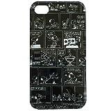 iPhone4専用★スヌーピー(ピーナッツ)キャラクタージャケット(コミック柄/黒)SNG-10H