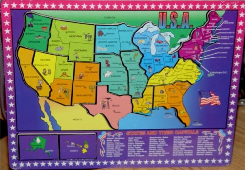 Cheap Forever Toys USA States and Capitals Wood Puzzle (B00115KHUQ)