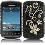 Diamante Diamond Case Cover For Blackberry 9380 Curve / Flower of Heart