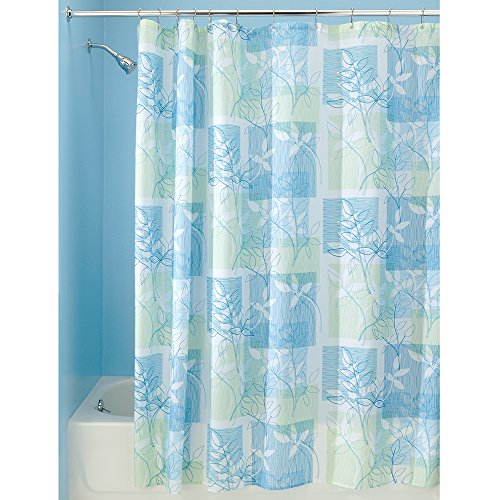 Interdesign Vivo Botanical Fabric Shower Curtain 72 X 72 Blue Green Business Industrial