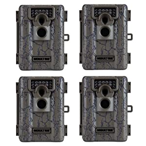 (4) MOULTRIE Game Spy A-5 Low Glow Infrared Digital Trail Hunting Cameras - 5 MP by Moultrie