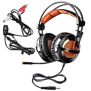 Sades SA-928 Lightweight Professional Gaming Headset Over Ear Headband
