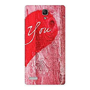 Cute Pink You Multicolor Back Case Cover for Redmi Note 4