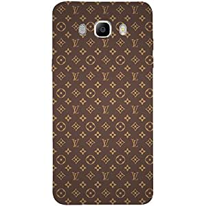 Casotec Vuitton Pattern Design 3D Printed Hard Back Case Cover for Samsung Galaxy J7 (2016)