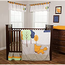 Trend Lab Friendly Fox 3 Piece Crib Bedding Set