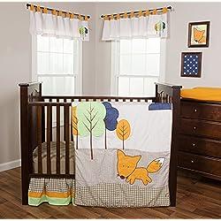 Trend Lab Friendly Fox 3 Piece Crib Bedding Set
