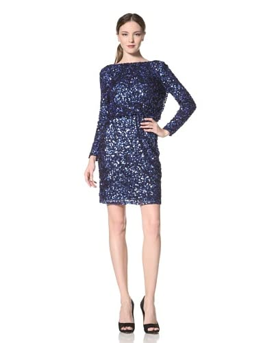 JS Boutique Women's Sequined Dress with Back Drape