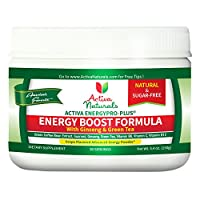 #1 Energy Boost Formula - Amazing Sugar Free Grape Flavored Drink Powder with Energy Booster Ingredients like Green Coffee Bean Extract, Ginseng, Green Tea Extract and other Amazing Green Super Foods - Extra Strength Natural Drink Powder to Boost Your Ene