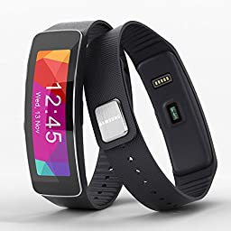 Samsung Gear Fit Smart Watch International Edition (Black -Includes both European and US Plugs)