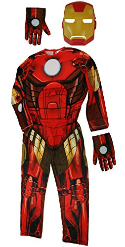 Rubies Iron Man Boys Costume w/ Gloves [880608 & 35649]