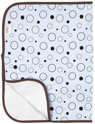 Kushies Flannel Deluxe Waterproof Diaper Changing Pad (Blue Circles) SALE