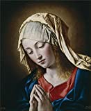 Perfect Effect Canvas ,the Beautiful Art Decorative Prints On Canvas Of Oil Painting 'Sassoferrato La Virgen En Meditacion 17 Century ', 16 X 20 Inch / 41 X 50 Cm Is Best For Basement Decor And Home Gallery Art And Gifts