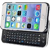 Foxnovo Ultradünne ausziehbare Wireless Bluetooth Tastatur schwer zurück Case Schutzhülle mit Hintergrundbeleuchtung für 4,7-Zoll iPhone 6 (schwarz)