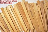 """Paint Stick - Box of 100; Superior Hard Wood Paint Stir Sticks; Used for Crafts, Fan Handles, Mixing Epoxy, for Vegetable Garden Markers; Same Professional Grade Stirring Stick Henry Was Using in the 1930s, Still Expertly Produced in Maine of Birch Veneer, 12"""", *Better Than Money Back Guarantee*"""