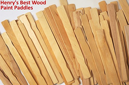 Paint Stick - Box of 100; Superior Hard Wood Paint Stir Sticks; Used for Crafts, Fan Handles, Mixing Epoxy, for Vegetable Garden Markers; Same Professional...