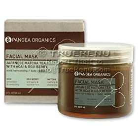 Pangea Organics Facial Mask: Japanese Matcha Tea with Acai & Goji Berry - for All Skin Types - 60ml