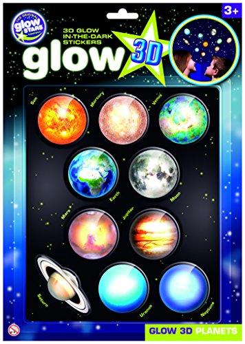 The Original Glowstars - Pegatinas 3D con diseño de planetas (brillan en la oscuridad)