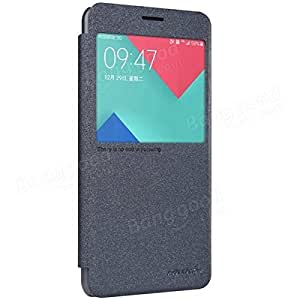 Nillkin Sparkle Flip Leather Case View Window Cover For Samsung A7100 (A710F) - Black