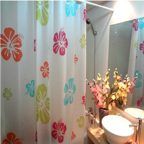 Fresh Red And Green Classic European Style Thick Matte Texture EVA Waterproof Shower Curtain Mildew Croscill Curtains YangFan