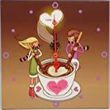 3 - 10 Inch Square Love Is Boy & Girl Panels with Battery Operated Quartz Clock