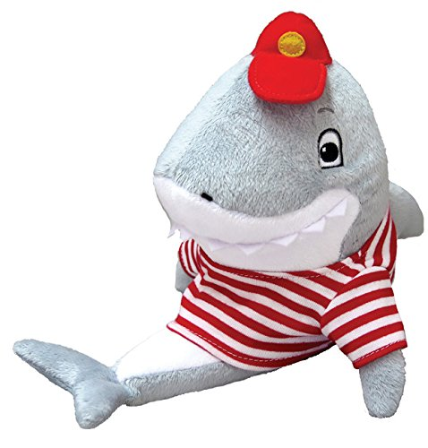 MerryMakers Clark the Shark Plush Toy, 9 1/2-Inch