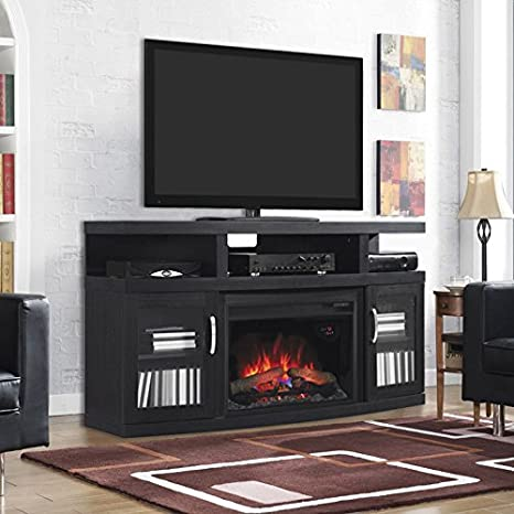 ClassicFlame Cantilever Electric Fireplace Media Cabinet in Embossed Oak - 26MM5508-NB04