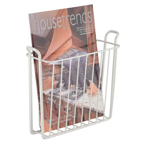 Interdesign Classico Wall Mount Newspaper And Magazine Rack For Bathroom White Ebay