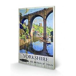 Vintage - Yorkshire Knaresborough Cuadro De Madera (60 x 40cm)